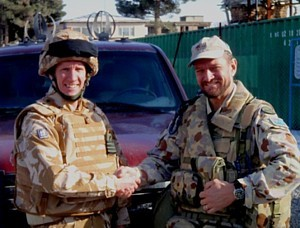 Mark Durkin and Dave Ince in Afghanistan