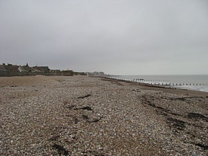Beach at Aldwick where Lt Walter Erskine Prior RNVR met his death in December 1945