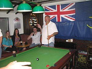 Pool in The Grapes - Tim Hadley watches the game slide away