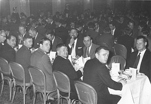 RN Divers' Dinner at Kimbells Ballroom Southsea c.1960