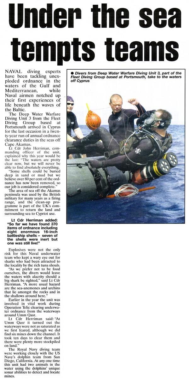 Iraqi mines FDU_3_Navy_News_Nov_03