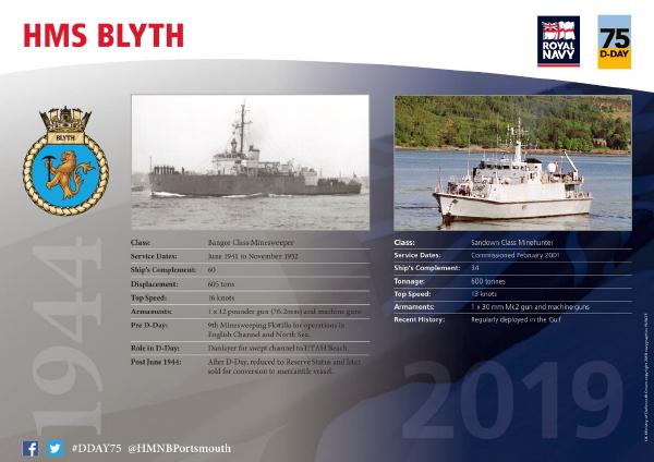 HMS Blyth Royal Navy Pin Badge