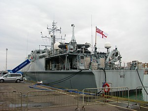 HMS Shoreham in Shoreham Docks