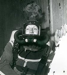 Diver in SABA at HMS Vernon Feb 1957