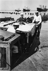 Diving tender in Haifa 1947