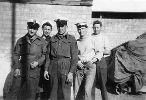 RN Diving Team in Haifa 1947