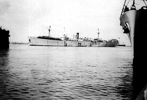 Jewish refugee ship off Haifa 1947