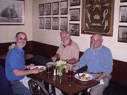 Our 'Not Quite the Last of the Summer Wine' trio dines in The Master Builder's House Hotel