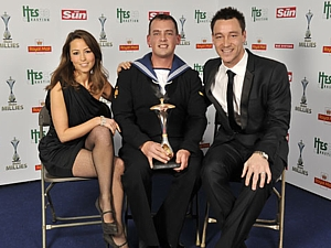 LS(D) Lee Duffy with Rachel Stevens and John Terry