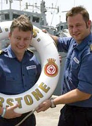 Lt Cdr Chris Nelson and his brother PO(MW) Philip Nelson of HMS Atherstone