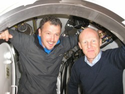 John Burden (Rolls Royce) with Chris Ameye (SofD)