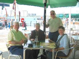 Dan & Chris Nicholson with Jake & Anne Linton at Gunwharf Quays