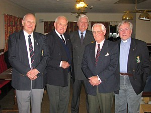 Bob Dean, Capt Mike Barrow RN, David Carey, Capt Mike O'Kelly RN and Rev Alan Geddes
