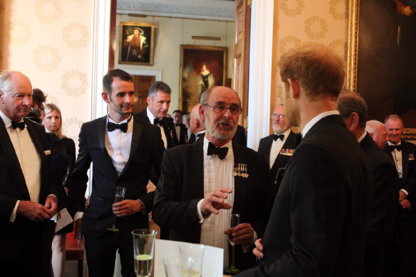 MCDOA Vice Chairman & Webmaster Rob Hoole with Prince Harry