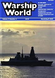 Front cover of Mar/Apr 09 issue of Warship World