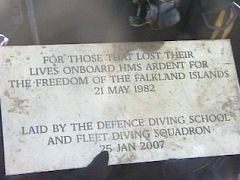 HMS Ardent memorial plaque laid by DDS & FDS divers